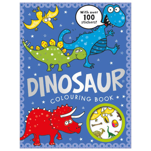 First Spread of Dinosaur Colouring Book (9781783930135)