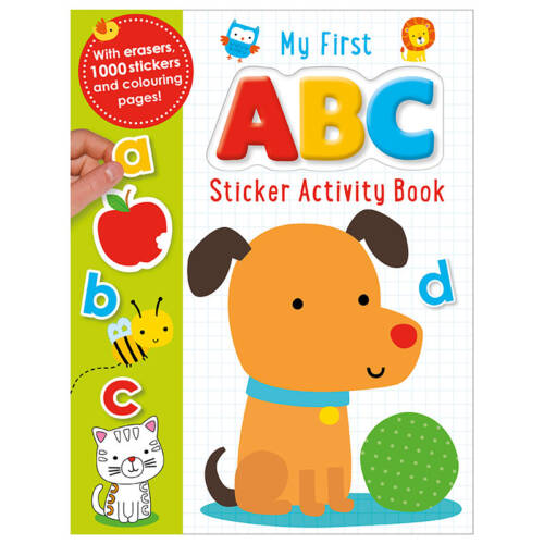 First Spread of My First ABC Sticker Activity Book (9781785983481)