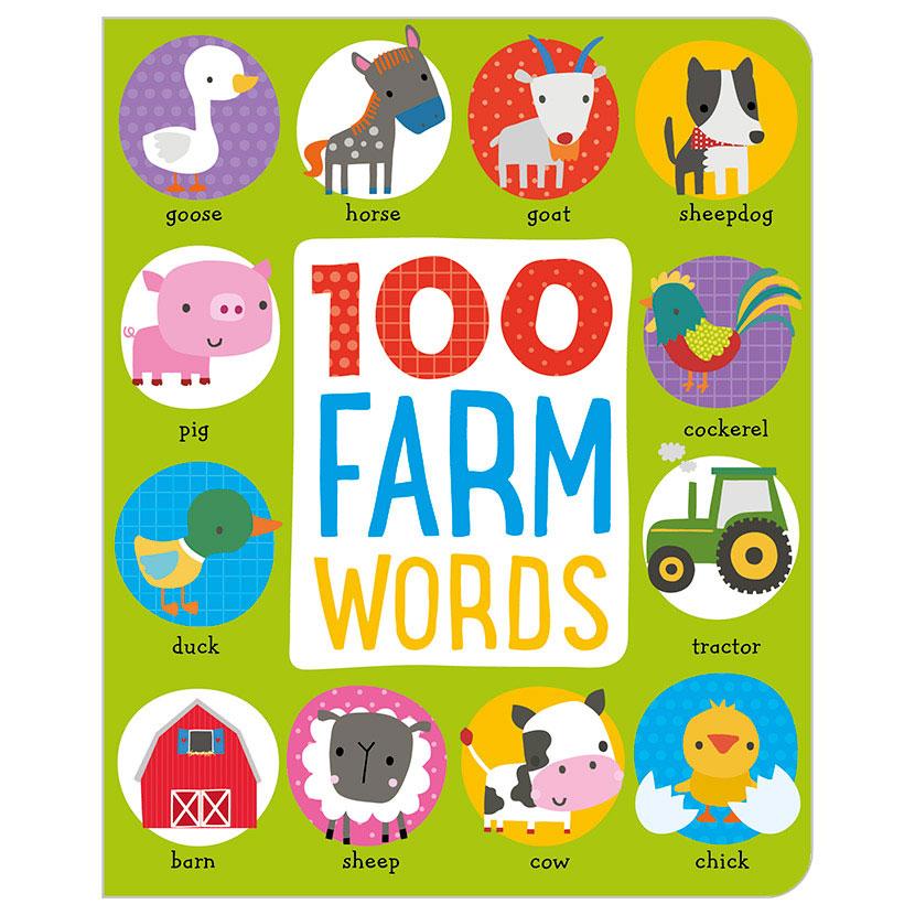 First Spread of 100 Farm Words (9781786920102)