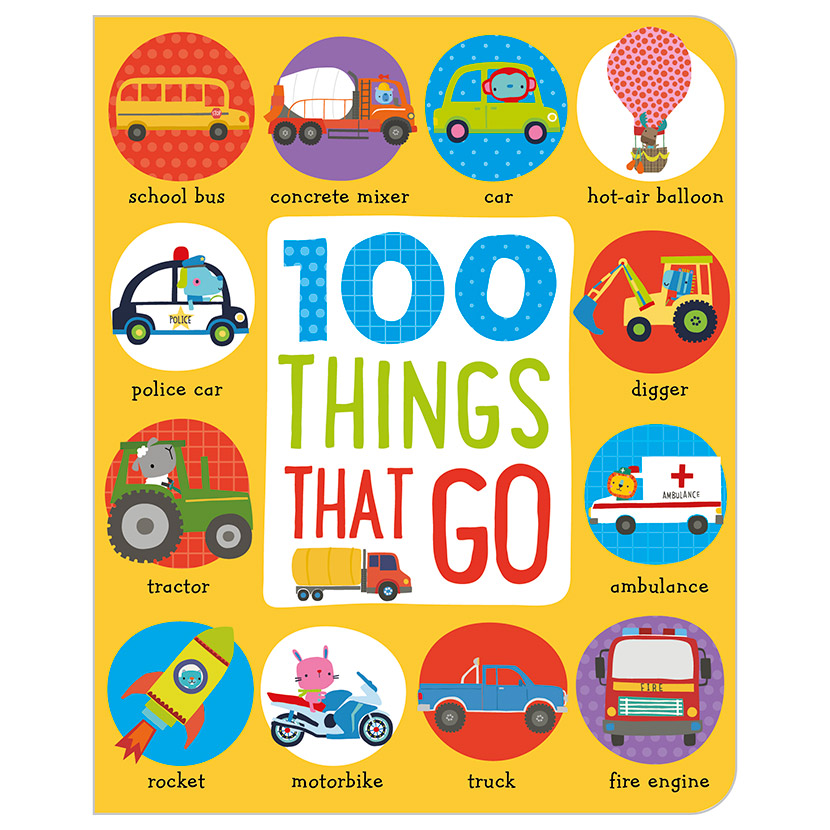 First Spread of 100 Things That Go (9781786920119)