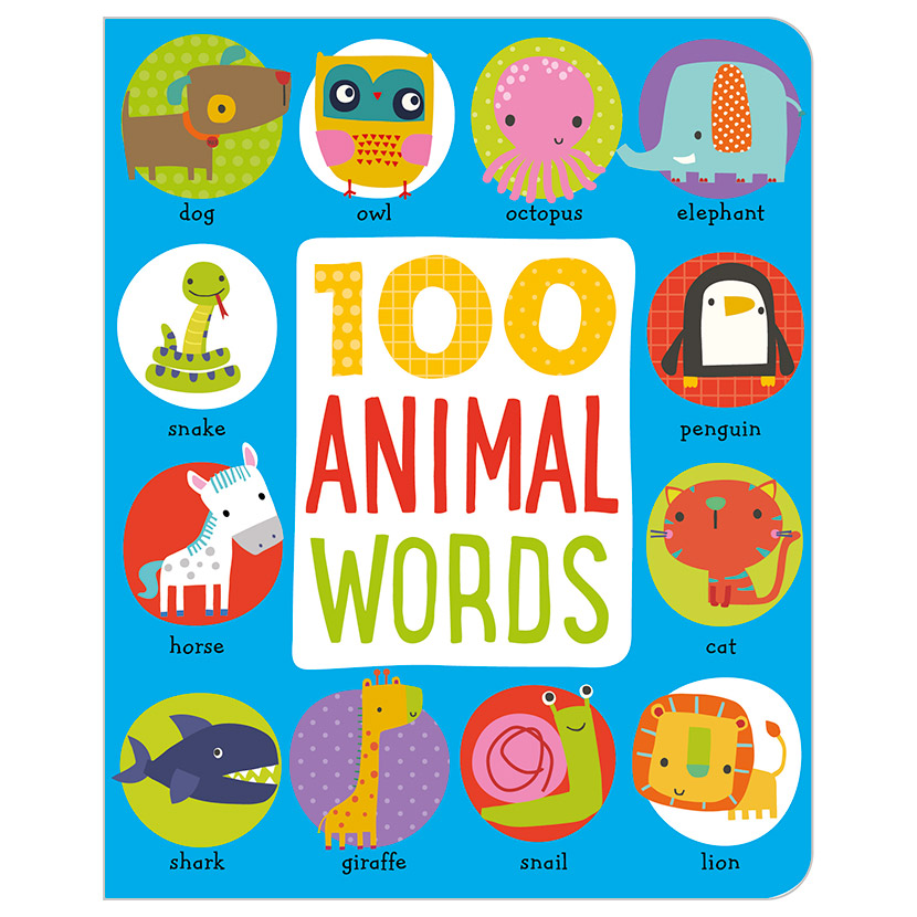 First Spread of 100 Animal Words (9781786920096)