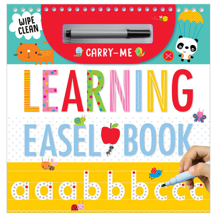 First Spread of Wipe-Clean Carry-Me Easel Book Learning (9781786929501)