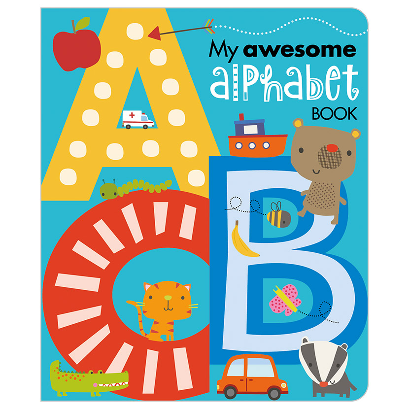First Spread of My Awesome Alphabet Book (9781783936533)