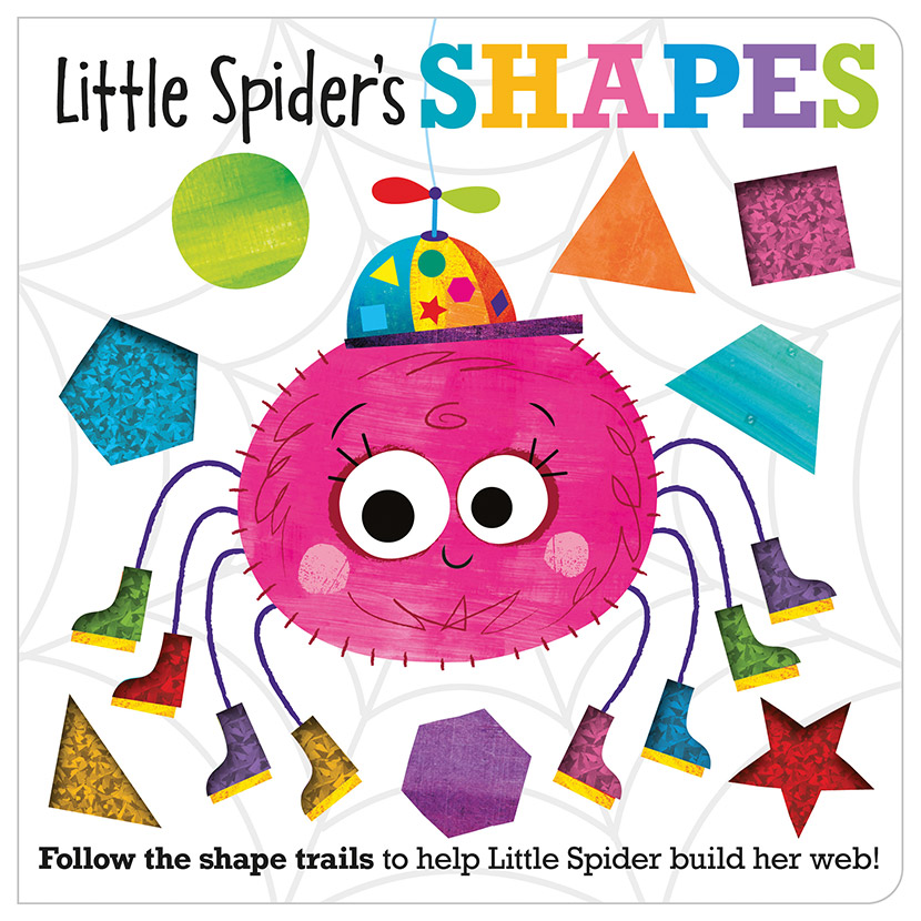 First Spread of Little Spider's Shapes (9781789474886)