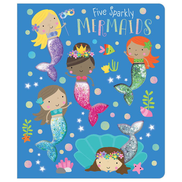 First Spread of Five Sparkly Mermaids (9781789472646)