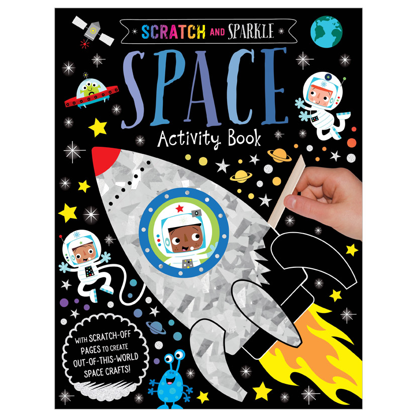 First Spread of Scratch and Sparkle Space Activity Book (9781789477986)