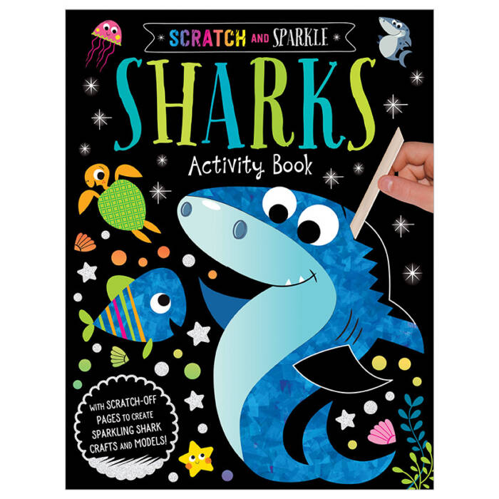 First Spread of Scratch and Sparkle Sharks Activity Book (9781789474091)