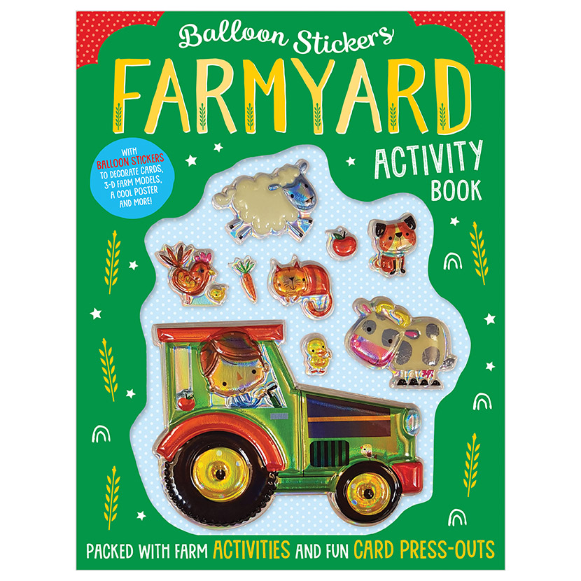 First Spread of Balloon Stickers Farmyard Activity Book (9781789474077)