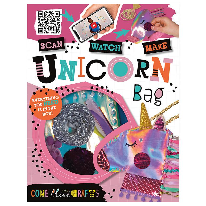 First Spread of Come Alive Sew a Unicorn Bag (9781789474152)
