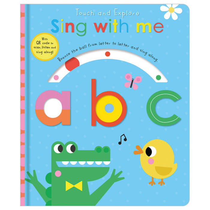 First Spread of Touch and Explore Sing with me abc (9781789476088)
