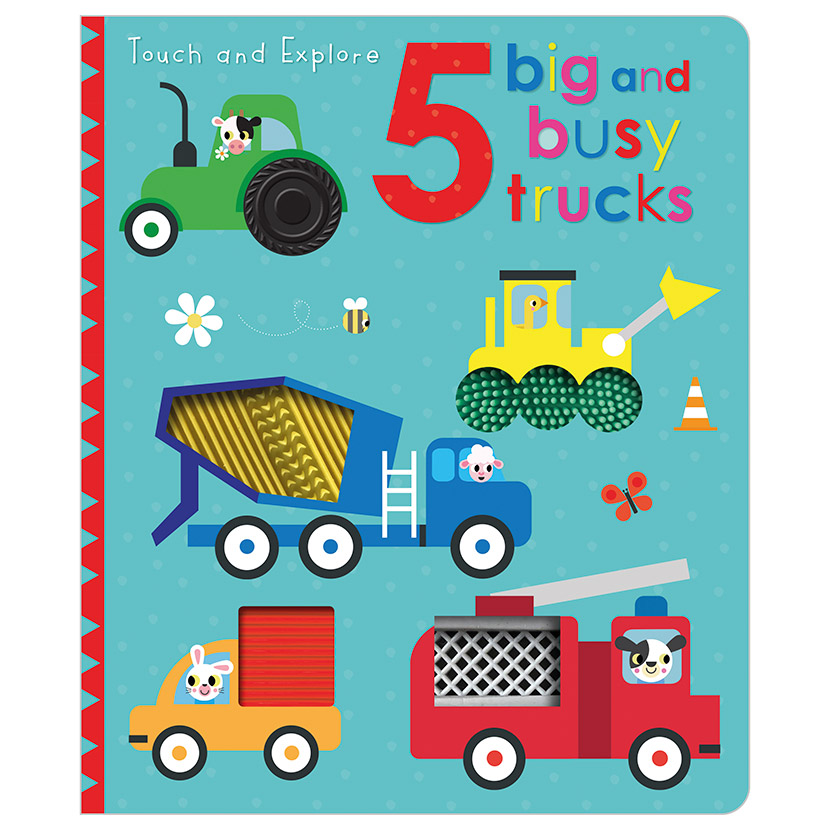 First Spread of Touch and Explore 5 Big and Busy Trucks (9781789476101)
