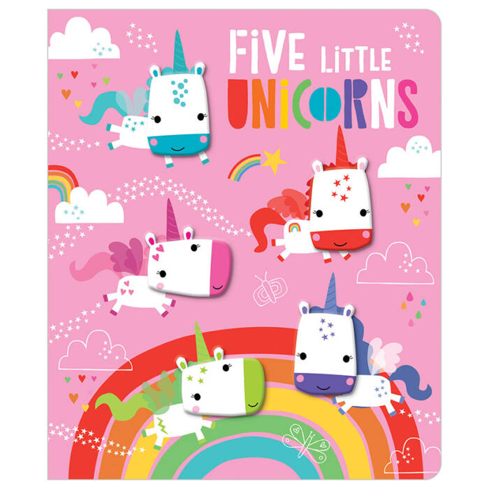 First Spread of Five Little Unicorns (9781789474893)