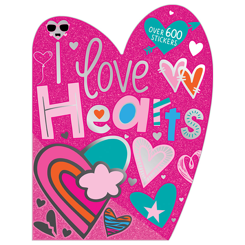 First Spread of I Love Hearts Sticker Activity Book (9781789474299)