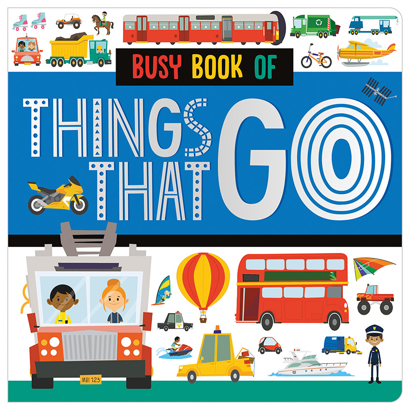 First Spread of Busy Book of Things That Go (9781789474572)