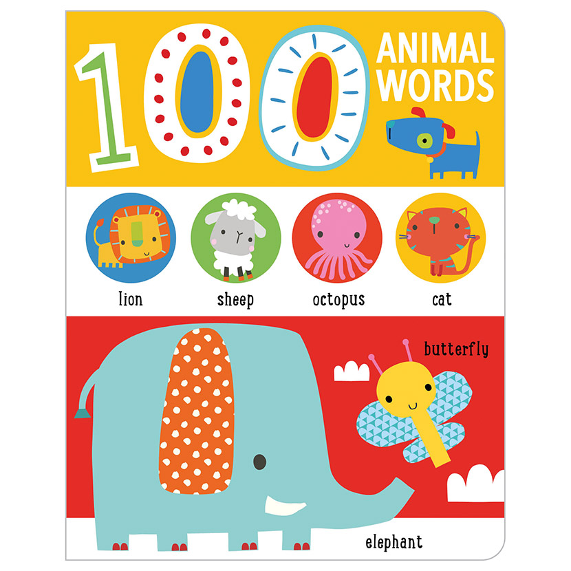 First Spread of First 100 Animal Words (9781789474596)