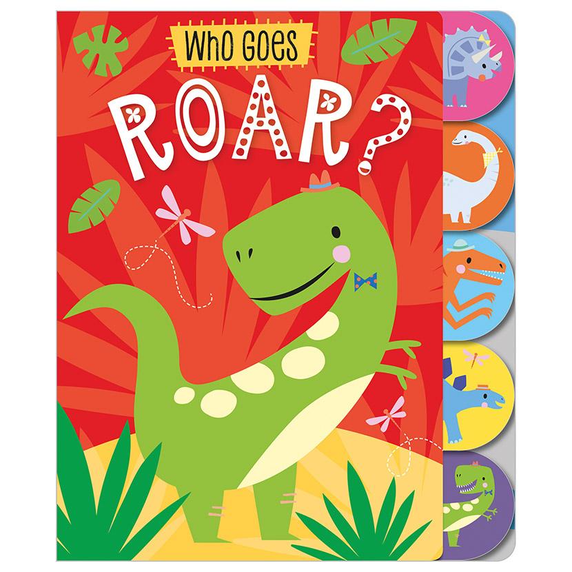 First Spread of Who Goes Roar? (9781789474800)