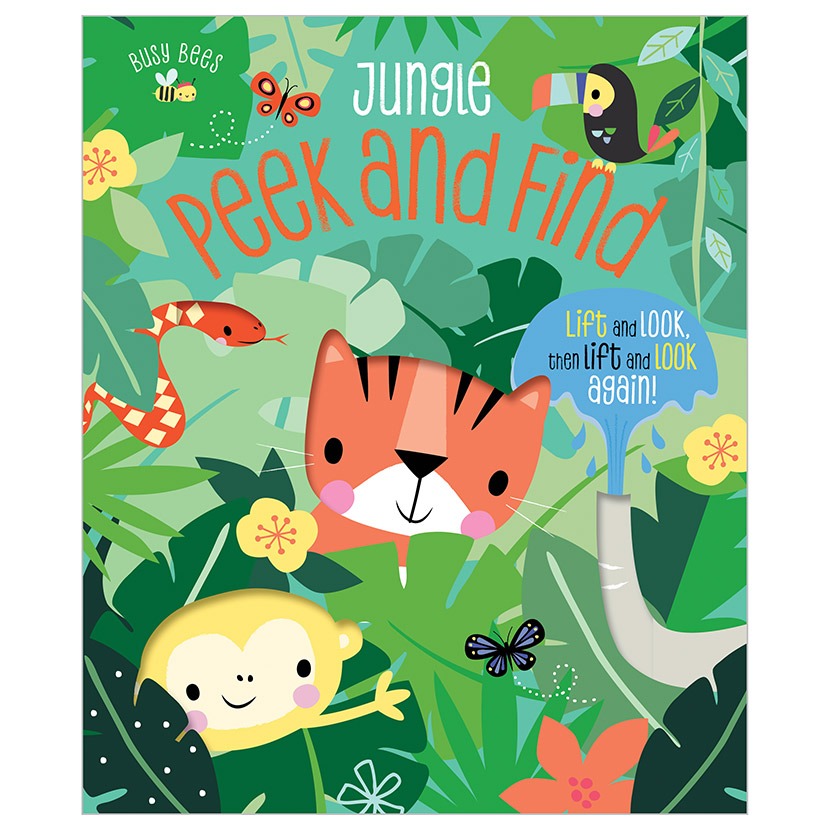 First Spread of Busy Bees Peek and Find Jungle (9781789475708)