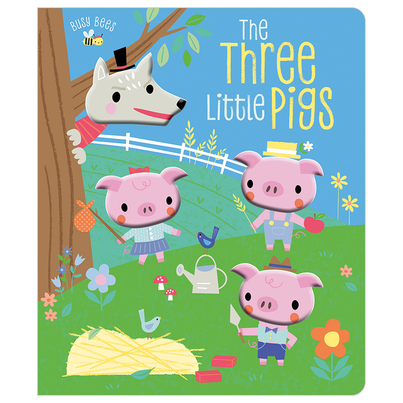 First Spread of Busy Bees The Three Little Pigs (9781789475715)