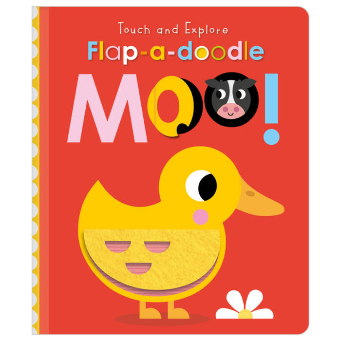 First Spread of Touch and Explore Flap-a-Doodle Moo! (9781800581852)