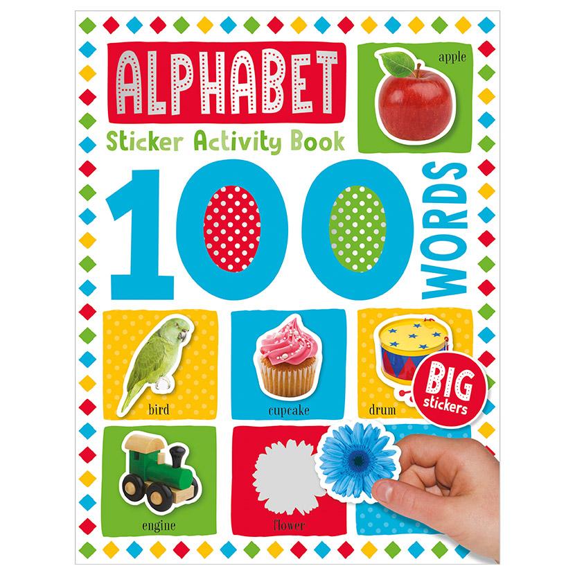 First Spread of 100 Words Alphabet Sticker Activity Book (9781789476125)