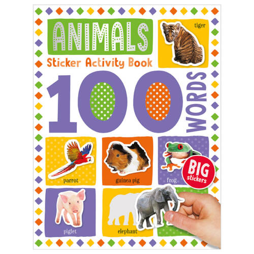 First Spread of 100 Words Animals Sticker Activity Book (9781789476132)