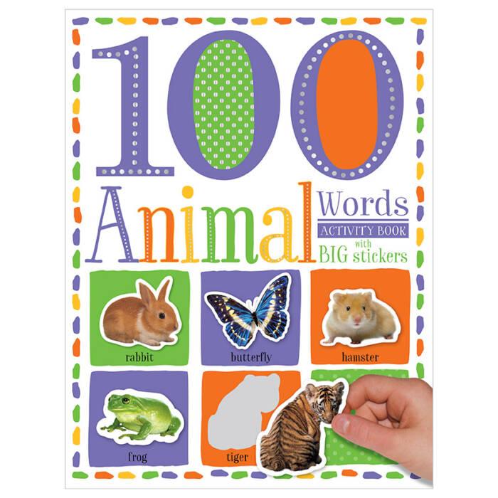 First Spread of 100 Words Animals Sticker Activity Book (9781786929617)