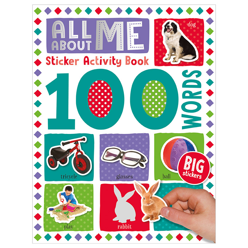 First Spread of 100 Words All About Me Sticker Activity Book (9781789476149)