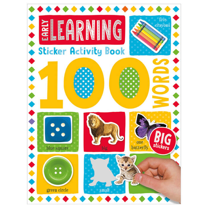 First Spread of 100 Words Early Learning Sticker Activity Book (9781789476156)