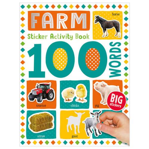 First Spread of 100 Words Farm Sticker Activity Book (9781789476163)