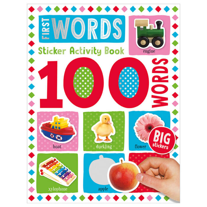 First Spread of 100 Words First Words Sticker Activity Book (9781789476170)