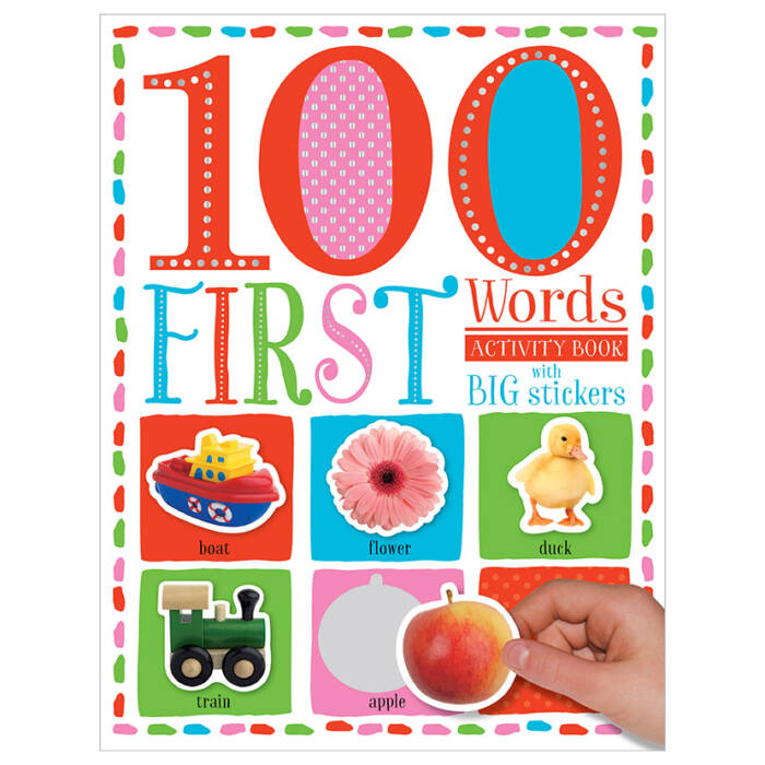 First Spread of 100 Words First Words Sticker Activity Book (9781786929600)