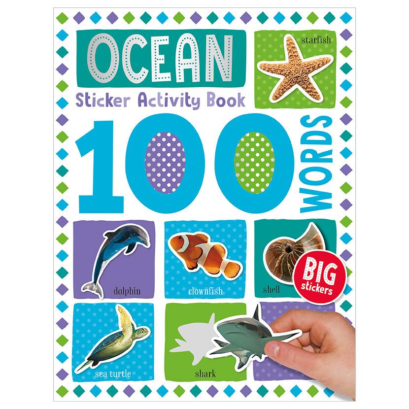 First Spread of 100 Words Ocean Sticker Activity Book (9781789476187)