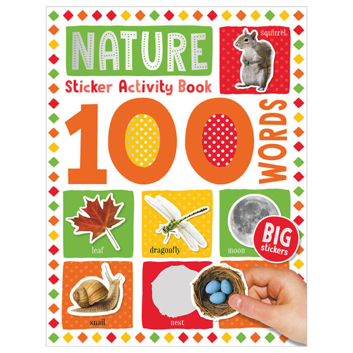 First Spread of 100 Words Nature Sticker Activity Book (9781789476217)