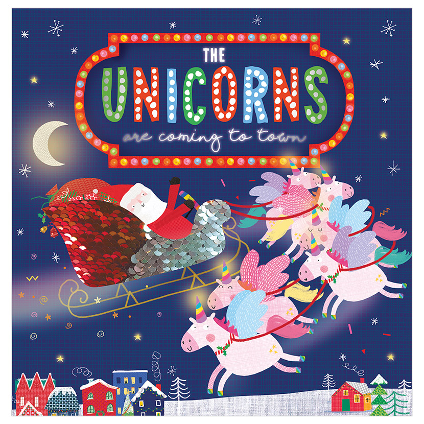 First Spread of The Unicorns Are Coming to Town (9781789477658)