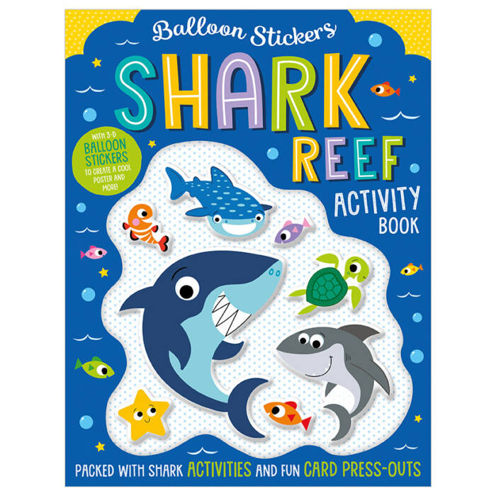 First Spread of Balloon Stickers Shark Reef Activity Book (9781789477962)