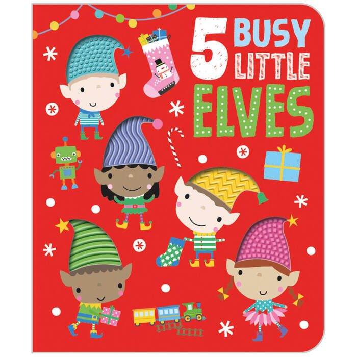 First Spread of Five Busy Little Elves (9781789477580)