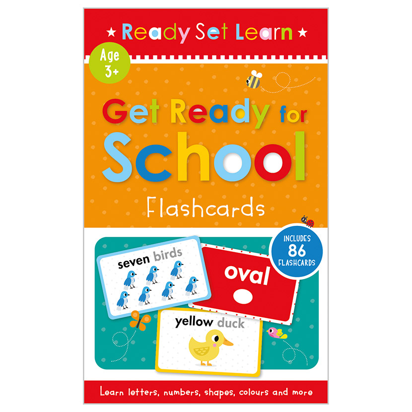 First Spread of Get Ready for School Flashcards (9781800580299)