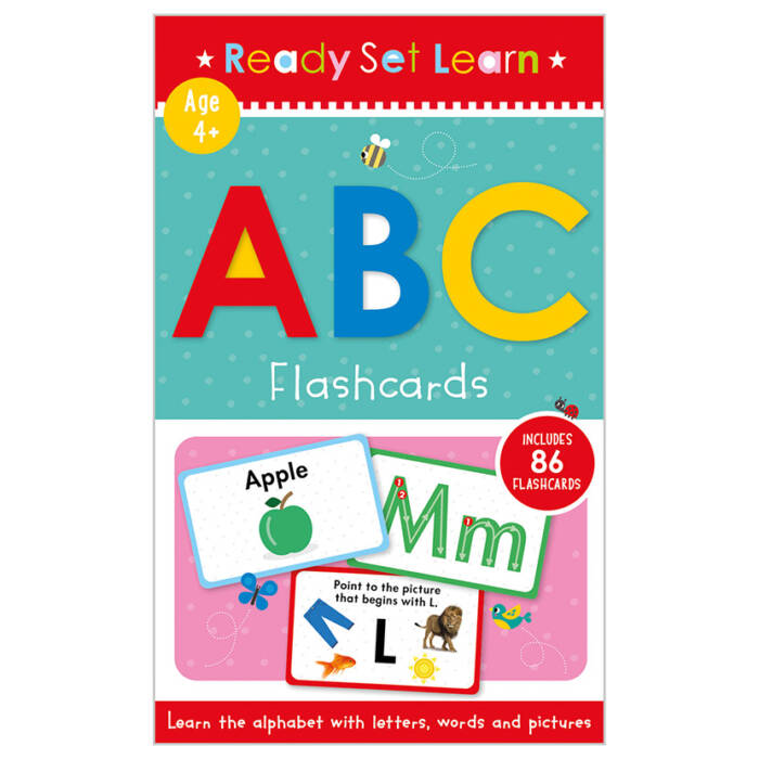 First Spread of ABC Flashcards (9781800580305)