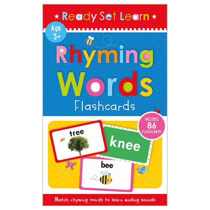 First Spread of Rhyming Words Flashcards (9781800580329)