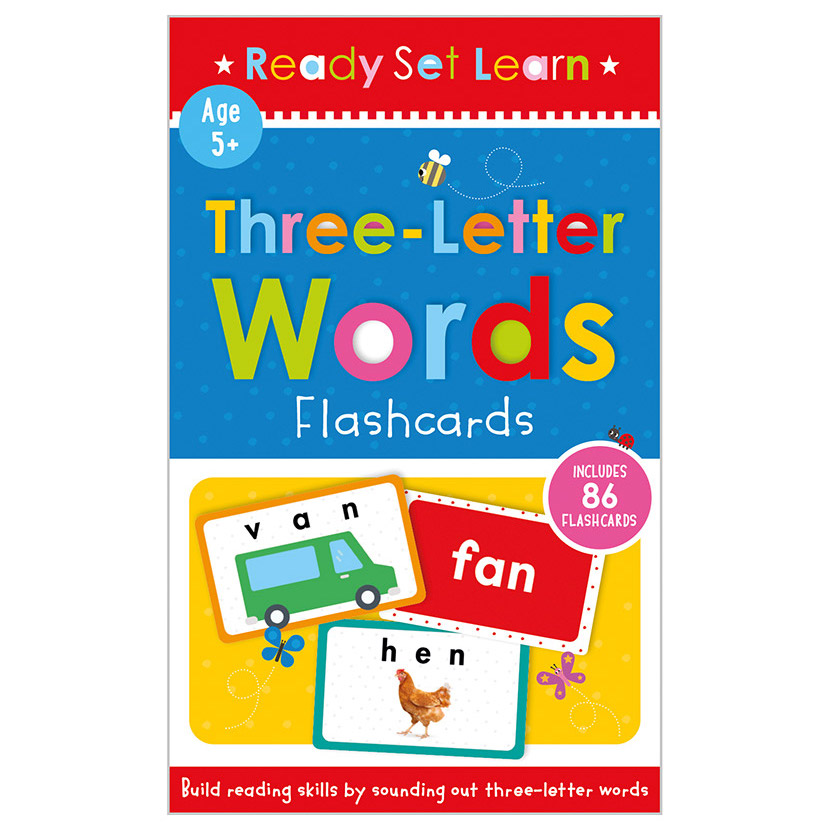 First Spread of Three Letter Words Flashcards (9781800580343)