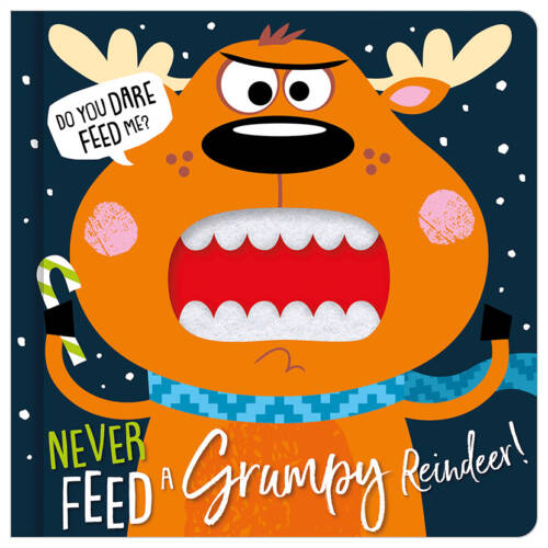 First Spread of Never Feed a Grumpy Reindeer (9781789477566)
