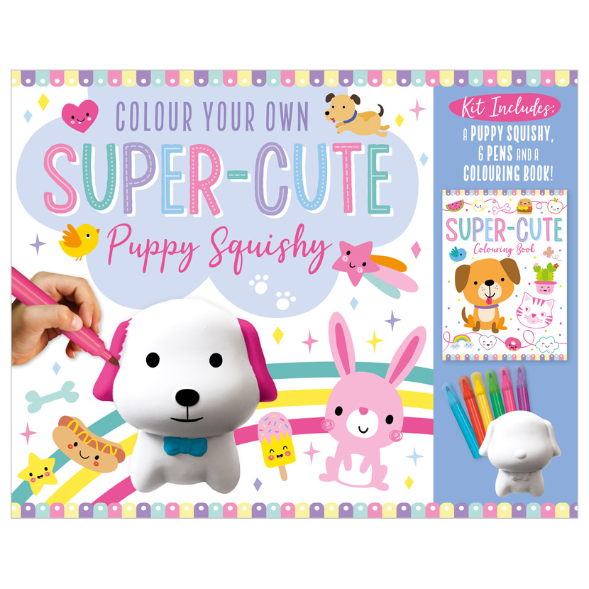 First Spread of Colour Your Own Super-Cute Puppy Squishy (9781800581074)