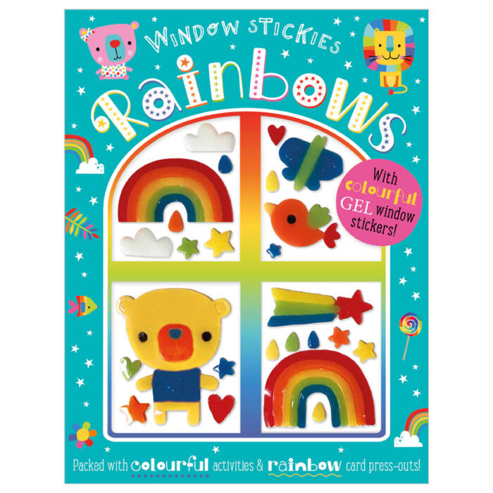 First Spread of Window Stickies Rainbows (9781800581715)
