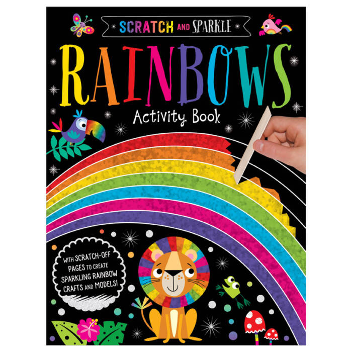 First Spread of Scratch and Sparkle Rainbows (9781800581708)