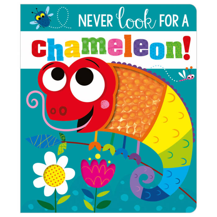 First Spread of Never Look for a Chameleon! (9781800581364)