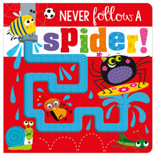 First Spread of Never Follow a Spider! (9781800581357)