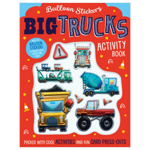 First Spread of Balloon Stickers Big Trucks Activity Book (9781800581746)