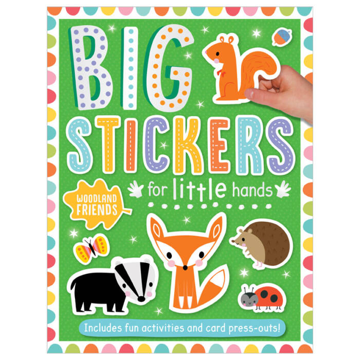 First Spread of Big Stickers for Little Hands Woodland Friends (9781800581777)