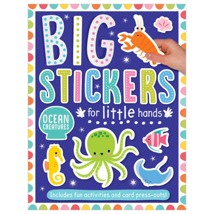 First Spread of Big Stickers for Little Hands Ocean Creatures (9781800581784)