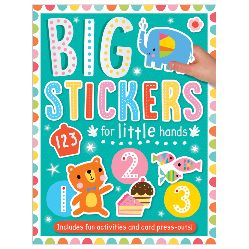 First Spread of Big Stickers for Little Hands 123 (9781800581807)